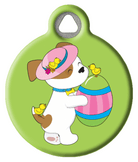 Easter Puppy with Egg Pet Tag