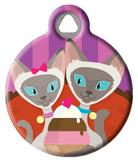 Siamese Sundae Pet ID Tag