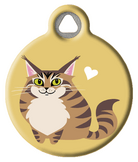 Maine Coon Kitty Cat ID Tag