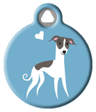 Whippet Doggie ID Tag
