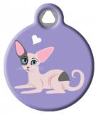 Sphynx Cat ID Tag