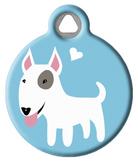 Bull Terrier Doggie ID Tag