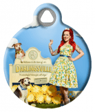 Welcome to Darlingsville Pinup Dog Tag