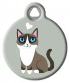 Snowshoe Cat ID Tag