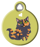 Longhaired Tortoiseshell Kitty Cat ID Tag