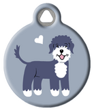 Portuguese Water Dog Doggie ID Tag