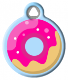 Pink Frosted Donut ID Tag