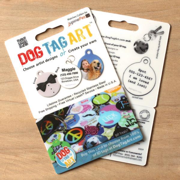 dog tag art gift card one tag and shipping dog tag art